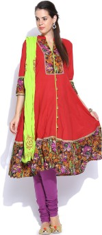 Rain & Rainbow Printed Churidar Suit