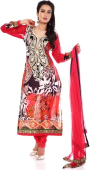 Charming Floral Print Churidar Suit - SWDE6ZVGEQSSX8ZU
