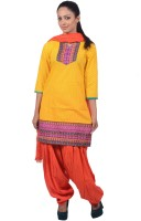 Jaipur Kurti Printed, Solid Patiala Suit - SWDDY44HNJGFN9RE