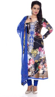 Charming Floral Print Churidar Suit - SWDE6ZVG79JYVBE4