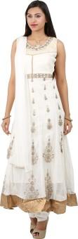 Jasmine Silk Floral Print Kurta & Churidar - SWDEDAZ5VQNS3CCG