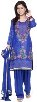 Inditouch Embroidered Patiala Suit