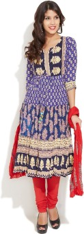 Rain & Rainbow Printed Churidar Suit - SWDE78SRHM5RZEXY