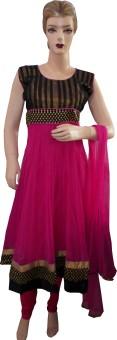 SS Fashion Self Design, Embroidered, Embellished, Solid Anarkali Salwar Suit