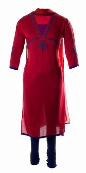 AzraJamil Printed, Embellished Churidar Suit