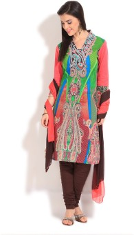 Rain & Rainbow Printed Churidar Suits - SWDE5GBGBM7G6ETZ