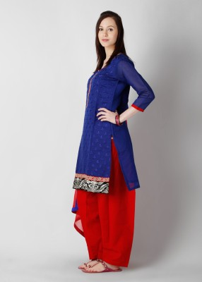 Buy Anahi Embroidered Churidar Suits: Salwar Kurta Dupatta