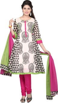 Haute Curry By Shoppers Stop Printed Churidar Suit - SWDE7ZPHP6MEDQBE