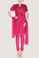 Karmik Floral Print Churidar Suit
