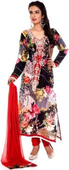 Charming Floral Print Churidar Suit