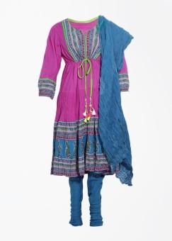 Rain & Rainbow Floral Print Churidar Suits