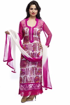 Awwmaze Embroidered, Printed, Graphic Print Kurta & Churidar