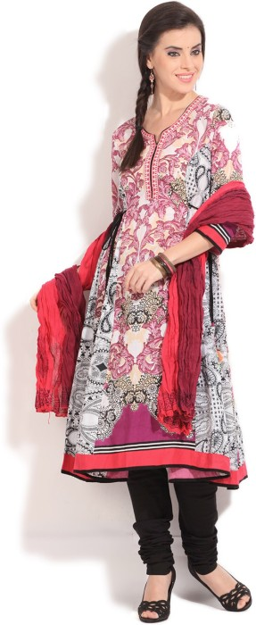 Rain & Rainbow Printed Churidar Suits - SWDE5GBGYT6GXKYR