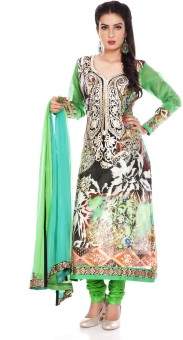 Charming Floral Print Churidar Suit - SWDE6ZVGWZPH9YEY