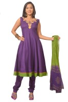 Azva Readymade Solid Anarkali Suit