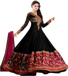 SayShopp Georgette, Chiffon Embroidered Semi-stitched Salwar Suit Dupatta Material Semi-stitched