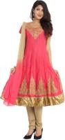 Sudarshan Silks Solid, Self Design Anarkali Suit - SWDE2D8F8HC7RYGP