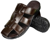 Nonch Le Brown Strap Leather Sandals