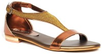 Senso Vegetarian Ladies Shiny Gold Women Gold Flats Gold