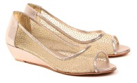 Dezire Women Gold, Gold Wedges Gold, Gold