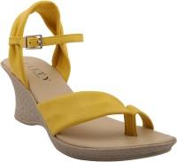 Glety Women Yellow Wedges Yellow