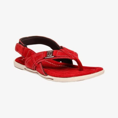 Bacca Bucci Globetrotter Red Men's Sandal Leather Sandals