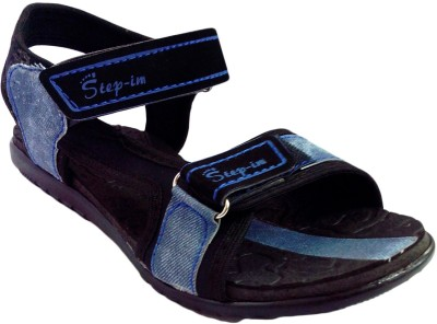 Step-In PVC Flotter Flats (Blue)