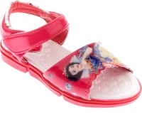 Happy Bachpan Girls Red Sandals Red