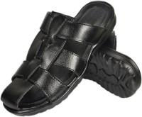Nonch Le Black Strap Leather Sandals