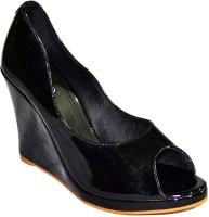 Senso Vegetarian Ladies Formal Black Peep Toes Heels