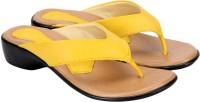 Awssm Women Yellow Wedges Yellow