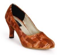 Funku Fashion Women Orange, Orange Heels Orange, Orange