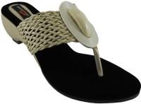B3trendz Women Black, Beige Heels Black, Beige