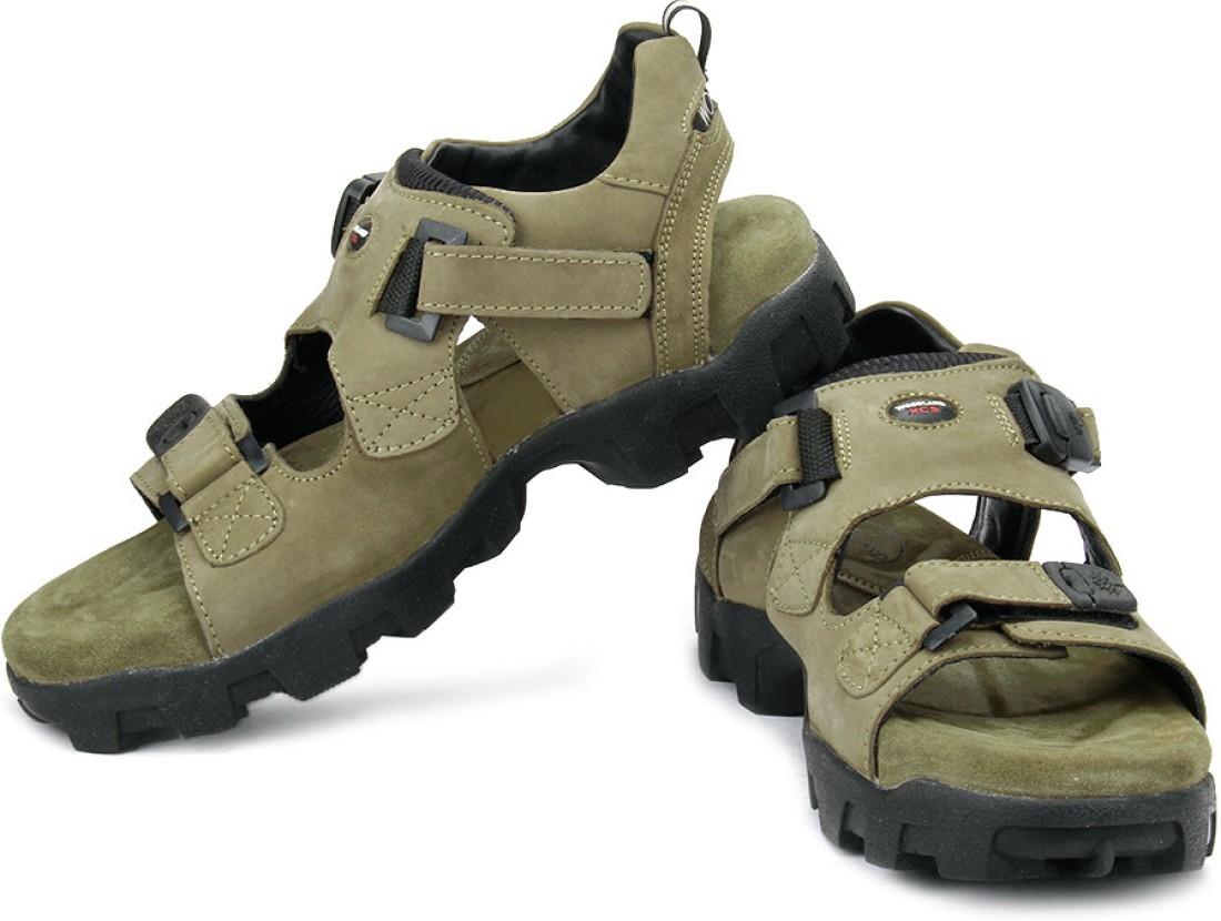 Woodland Leather Sandals Buy Khaki Color Woodland