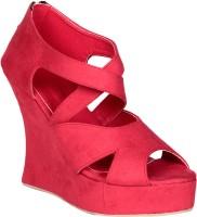 Soft & Sleek Red Strap Wedges