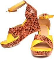 Oh Feet ! Women Yellow Wedges Yellow