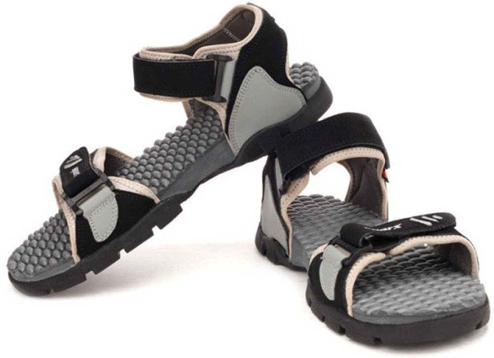Sparx Men BlackGrey Sandals For Men