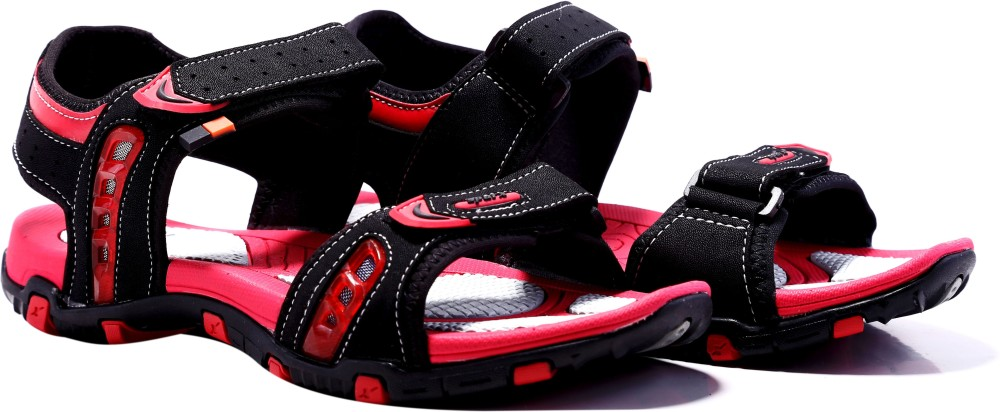 Sparx Men Black Red Sandals Blac...