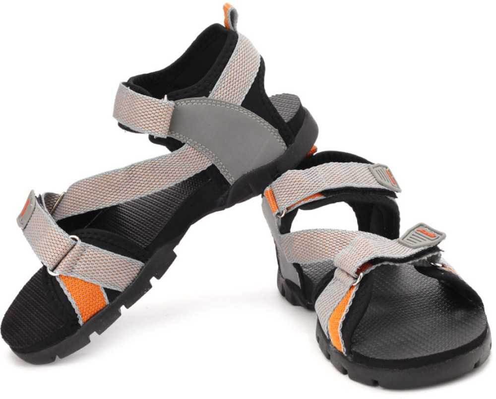 Sparx Men Grey Orange Sports Sandals Grey Orange