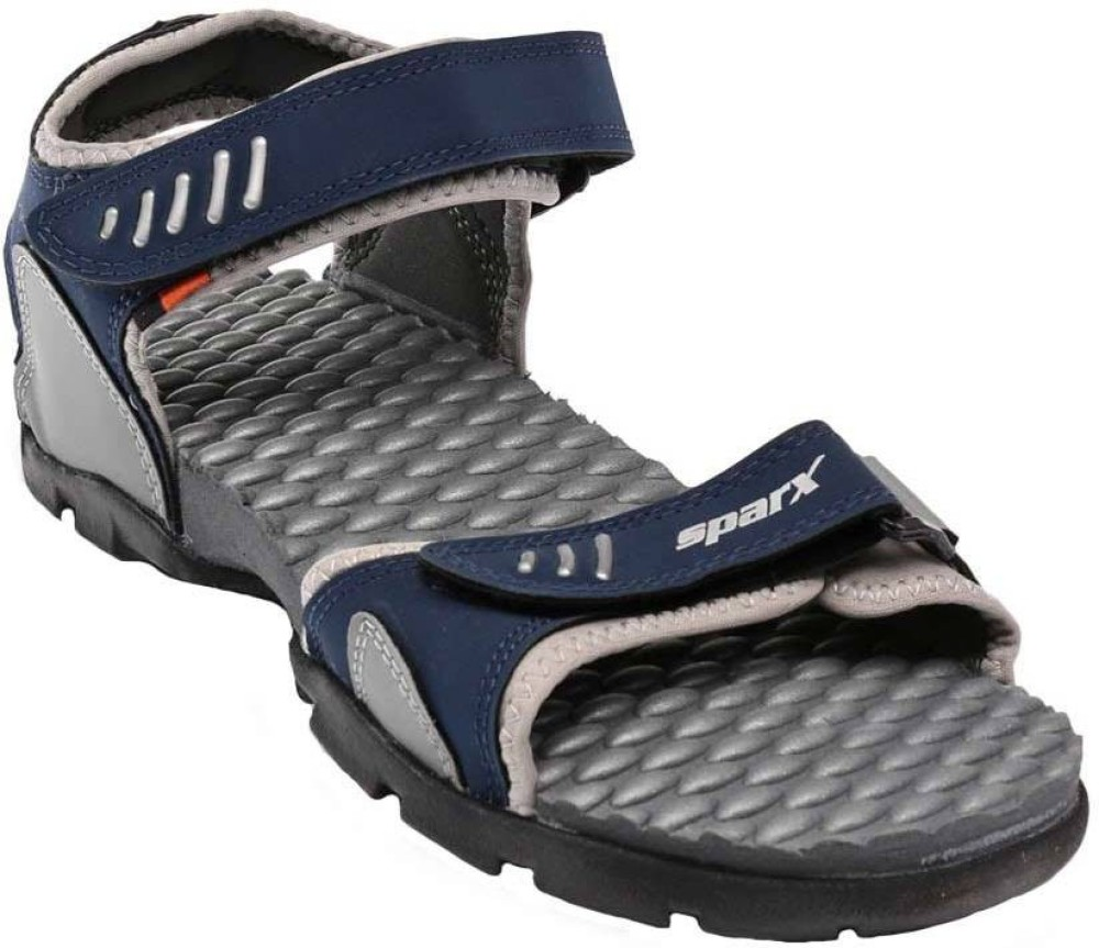 Sparx Men Navy Blue Grey Sandals Navy Blue Grey