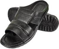 Nonch Le Stylish Black Leather Sandals