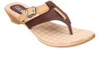 Titas Womens Beige Brown Casual Wedges
