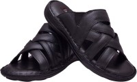 Enzo Cardini Men Black Sandals Black