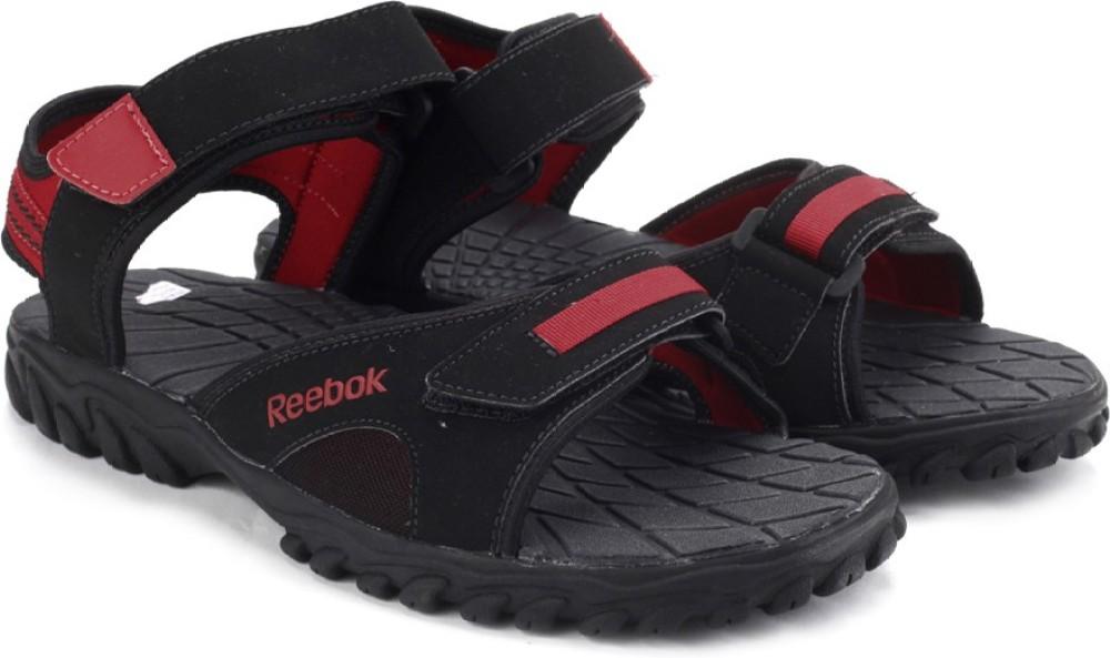 Reebok Men Black Red Sports Sandals Black Red