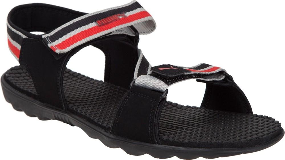 Puma Men Black Sandals Black