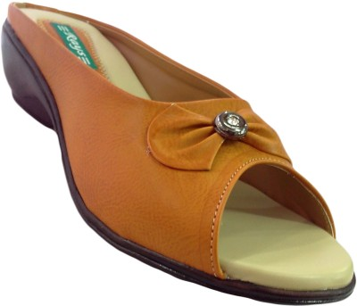 Wedges Rays Bow With Round Buckle Pvc Wedges (Beige\/Sand\/Tan)