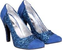 Soft & Sleek Blue Crystal Heels