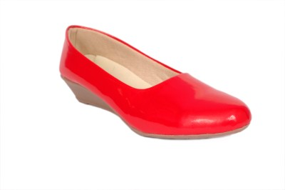 Studio 9 STUDIO 9 Patent Wedge Ballerina Wedges (Red)