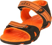 Spinn Men Black, Orange Sandals Black, Orange