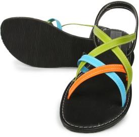 Anupamaa Multi Color Sandals Girls, Women Flats